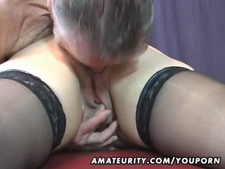old dilettante pair home act with cum on titties
