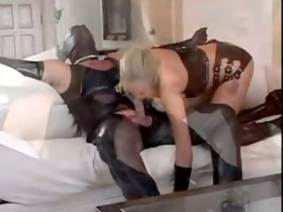 hotty lengthy luvs her man in rubber