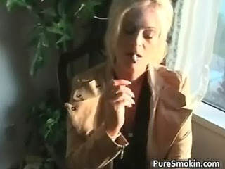 blond milf with giant juggs doing