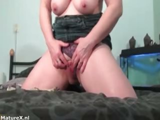 horny breasty aged dark brown enjoys part7