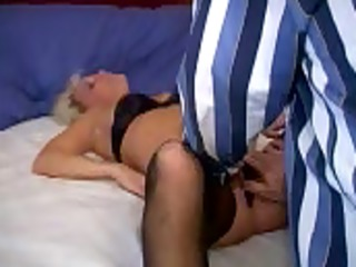 hubby peels off wifes pants for lover
