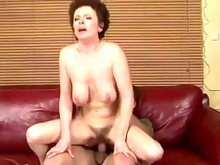 granny acquires her hairy cunt screwed hard