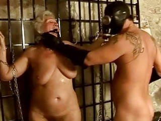 granny getting punished and drilled hard