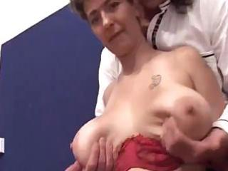 Big old saggy titties creampie