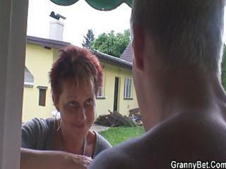 smart chap bangs the granny next door