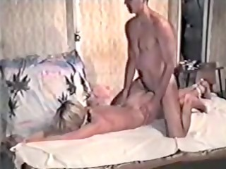 golden-haired in dilettante homemade bdsm tape