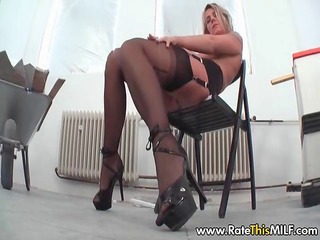 rate my german pierced mother i in stockings