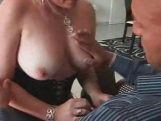 short-haired blond french bimbo milf boinks a