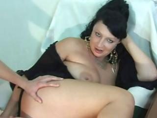mature brunette hair acquires a juvenile cock to