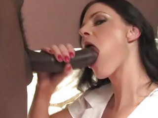breathtaking milf nurse on a dark wang