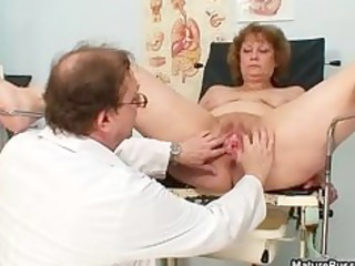 concupiscent doctor abusing a bawdy grandma part4