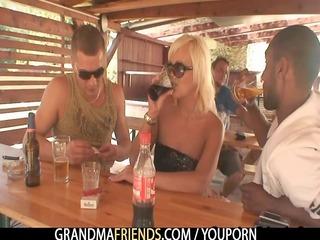 dudes have pleasure with granny