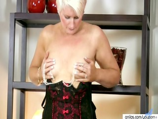 sexually excited milf in lingerie copulates her
