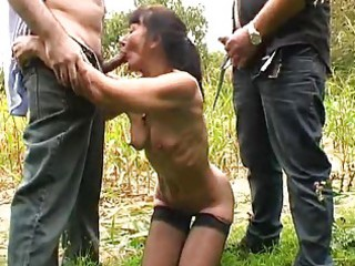 french mature outdoor group sex
