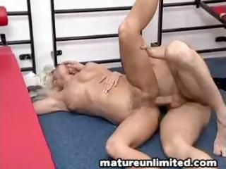 blond granny acquires drilled hard all over the