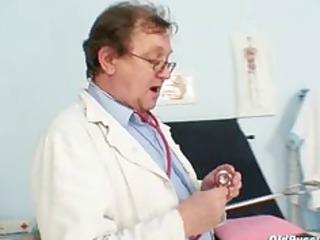 elder non-professional woman weird gyno clinic