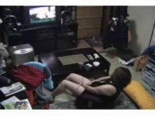 caught milf masturbating ! hidden webcam