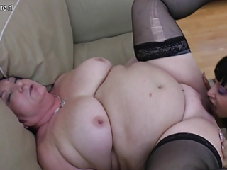 chubby granny copulates 5 young lesbian babes