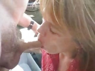 mother i getting a facial cum in public