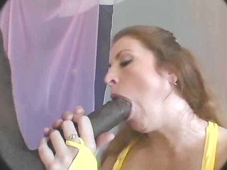 honey sucks massive pounder for mouthful of cum