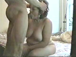 me and my naughty aunt. she is dont agree my cum !