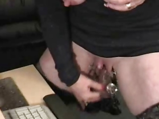 sub granny with huge clitoris has enjoyment at