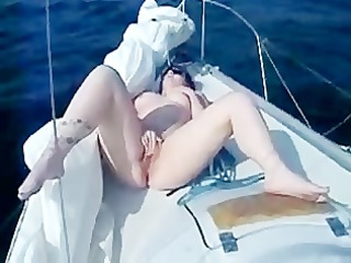 enormous cum showers during our boat holiday