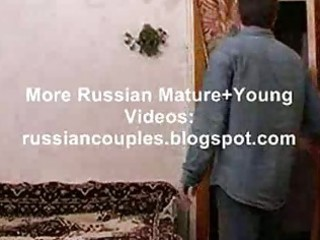 slender russian aged lady fucking with a guy