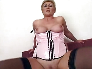 granny gets fucked and creampie