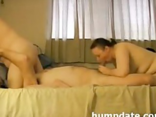lucks boy has blowjob pleasure with his wife and