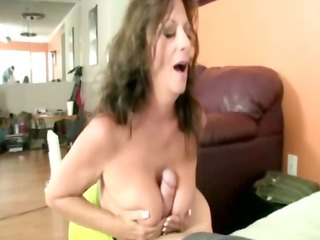giving cougar lady is jacking off