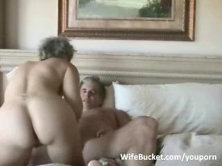 older pair enjoys home sex