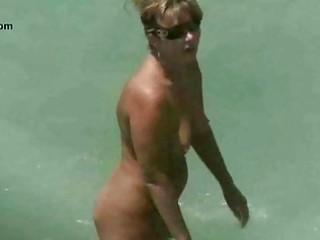 undressed beach older voyeur
