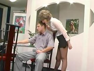 hose granny receives oral job older aged porn