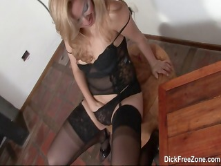 blonde latin chick rubia goes solo and rubs and