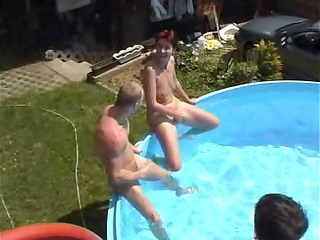 milf takes on a bunch of chaps at a pool (part 8)