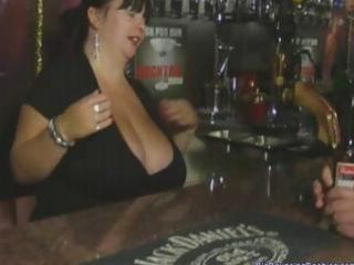 bulky british aged barmaid with giant titties