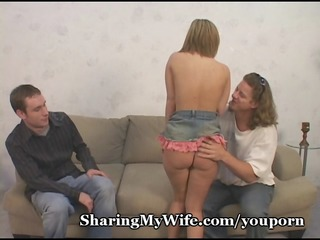 nervous hubby shares small wife