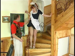 housemaid getting drilled