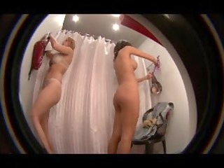 rich housewives caught s garb in changing room