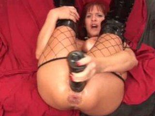 mother i - hard dildo masturbation