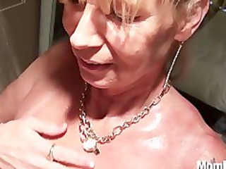 busty cougar acquires drilled in the shower