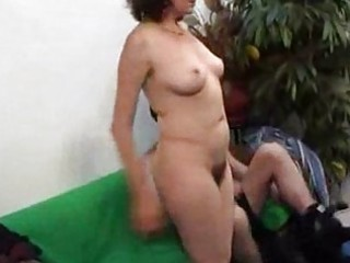 older hirsute milf engulfing and fucking juvenile