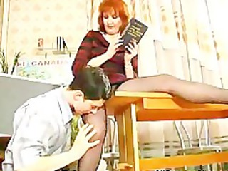 mature teaches her student russian cumshots gulp