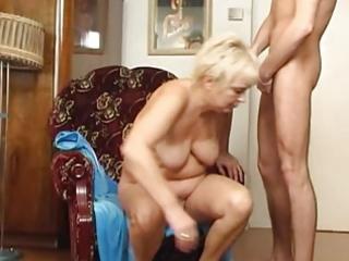 granny copulates the guy