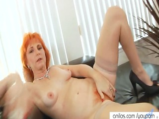 redhead mom dildos shaggy love tunnel