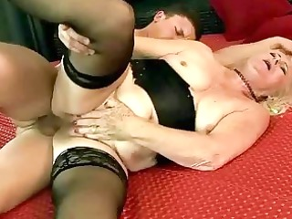 unsightly grandma getting screwed coarse