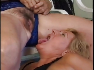 older lesbian babes fuck by the pool