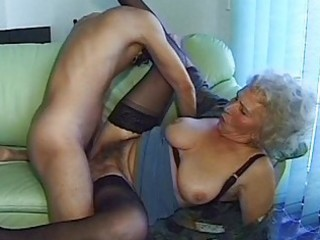 crazy old mommy receives large weenie