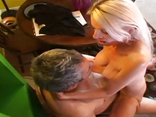 aged rides a weenie and receives a mouthful of cum